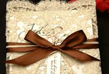 Bridal decorations and invitations