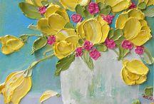 Watercolor and Impasto / Art Education