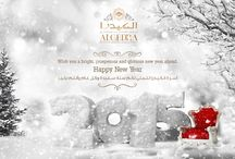 HAPPY NEW YEAR from ALGEDRA Interior Design / Wish you a bright, prosperous and glorious new year ahead. Happy New Year