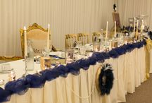 Glitter Glam / An alternative and glamours style for a winter wedding, adorned with royal blue and glitter.