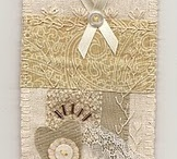 Inspiration - Collages & Mixed Media / Bits and pieces of paper, fabric and trims = beautiful creations.