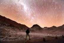 San Pedro de Atacama / La impresionante vista nocturna del Valle de la Luna en San Pedro de Atacama.