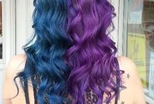 Half half hair colour