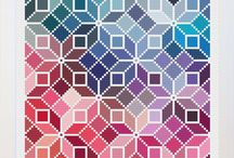 Geometric Counted Cross Stitch Patterns