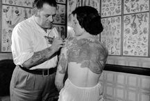 Vintage tattooed ladies