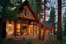 Log homes & Rustic Cabins / Log homes and rustic cabins. I'm sure any of these would look good on a lake!!