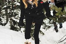 Outfit gold winter
