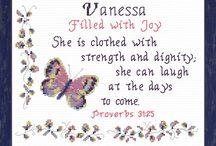 Favorited Joyful Expressions / Cross stitching Bible verses