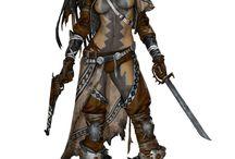 Fantasy-Rollenspiel-Charakter