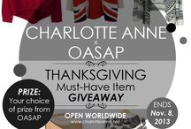 Charlotte Anne Giveaway / by Ria Alemina Ginting