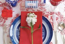 Red White and Blue Flowers / by BloomsByTheBox.com