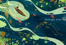 Water, Whales and Windships - illustration