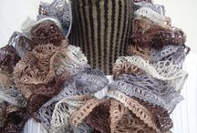New Style Scarves / Handknitted Ruffle  Lacy  Scarves / by designbyelena