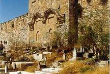 Brama Wschodnia starym mieście otoczonym murami Jerozolimy