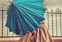 woman with umbrella - photography