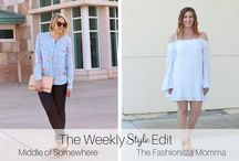 The Weekly Style Edit - Best of Fashion Bloggers / A collaborative board featuring the best pins from your favorite style and fashion bloggers! Pin your favorite outfits and fashion related pins, and please re-pin from fellow contributors when you love their content! If you'd like to contribute, follow me (@lindsayarutland) and @liveplentiful, and email middleofsomewhereblog@gmail.com. *Use #liveplentiful and #theweeklystyleedit on Instagram to be featured!