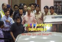 Justin Arrives In Mumbai