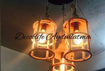 Halat sarkıt aydınlatma / Özel tasarım halat sarkıt aydınlatma imalatı