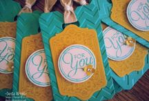 Stampin' Up Birthday Tags
