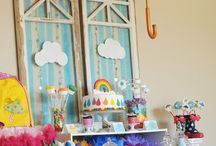 Rainbow party theme / On colour is not enough