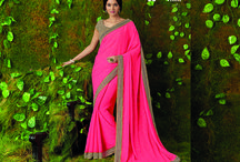 SURMAI-Catalog / Buy the latest  chiffon, georgette designer printed saree  from Laxmipati Sarees.