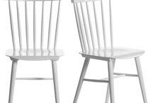 Deco | Chaise vintage scandinave barreaux bois