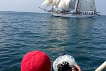 Photo Shoots at Sea / Photography at sea and dock side aboard the twin brigantines, Exy Johnson and Irving Johnson.