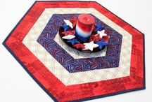 America The Beautiful / Quilts to help you decorate for patriotic holidays, or for everyday.  Great gifts for service families.  Some great QOV ideas too.