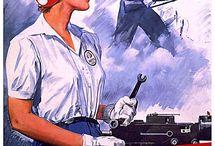 plakaty i rysunki lat '40