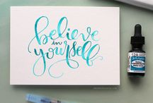 Lettering, typography, quotes