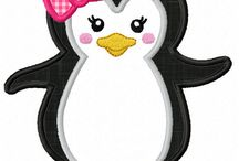 pinguin meisje strik