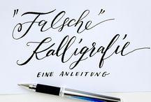 Zentangle, Doodle, Kalligraphie