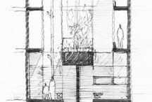 Arkitektur -Skisser