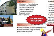 Üldehitustööd - katus, fassaad, sokkel, vundament, projekteerimine, soojustamine, renoveerimine / Renoveerimine vundamendist katuseni - katusetööd, fassaaditööd, soklitööd, vundamenditööd, betoonitööd, üldehitustööd - koos projekteerimisega.   Https://kpartner.ee