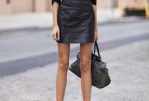 ankle boots and skirt