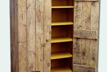 Pallet wood cabinets