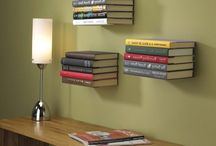 Rustic Hanging Bookshelves