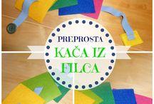 Naredi sam - otroške igrače / doma izdelane otroške igrače in materiali  - navodila v slovenščini