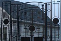 Iron Gates by Babin Ironworks / Custom fabricated wrought iron (steel) driveway  gates and walkway garden gates by Babin Ironworks in North Bay, Ontario.