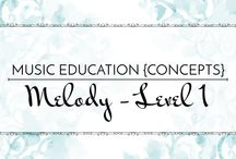 Melody Level 1 - Music Education {Concepts} / Songs, activities, resources, and strategies to teach so, mi, and la.  Music Education {Concepts} Melody Level 1