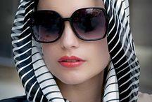 Shawles, Headscarfs, Portraits