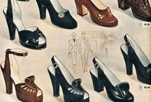 1940's shoes / Delectable footwear from the 1940's