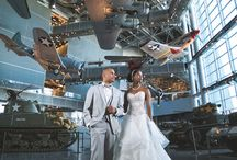The National WWII Museum / Wedding and fashion editorial images photographed at the National WWII Museum in New Orleans