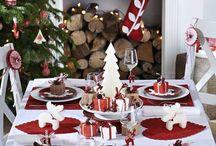 Decoração de Natal / O Natal é uma das datas mais esperadas do ano e ele veste o comércio, as cidades e as casas de brilho e magia. Vale a pena investir em uma decoração bem temática para essa época, e as ideias... são inspiradoras. ♥