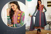 Dazzling Bollywood Anarkali suits / Order Bollywood Anarkali suits online
