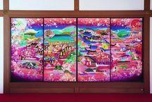 painting on fusuma