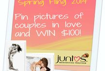 Spring Fling 2014 / Hello lovers! Spring has arrived and it's the perfect time of year to be in love. Pin pictures of couples in love to win!