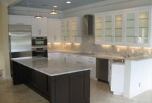 Remodeling Project 11 - Marble Kitchen / Super White Marble Kitchen