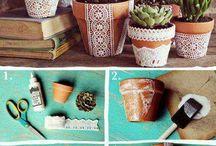 идеи для украшения цветочных горшков