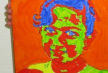 Portret in de stijl van Andy Warhol